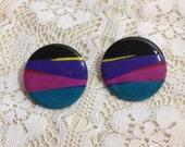 Retro Earrings 1980's Earrings Valley Girl Earrings