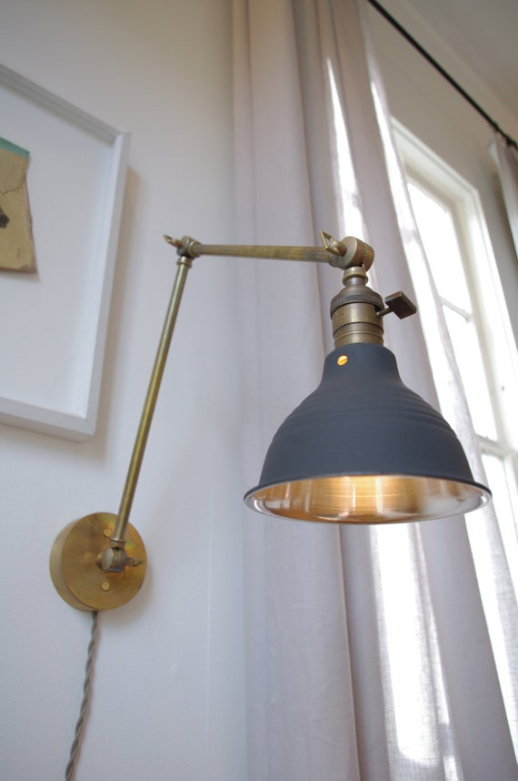 Articulating Industrial Wall Lamp O.C. White Style by LongMadeCo