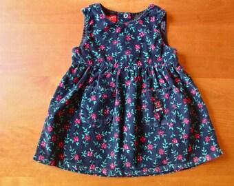 SALE Vintage Esprit Corduroy Floral Dress (12 months)