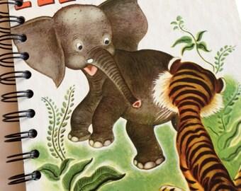 Saggy Baggy Elephant Little Golden Book Recycled Journal