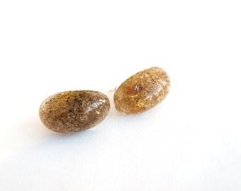 Shining Baltic Amber Earrings