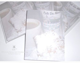 Cafe du Monde Notepad - Beignets and Cafe Au Lait Pad - New Orleans Stationery - theRDBcollection
