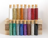 German Glass Glitter - Your Choice 5 Small Bottles