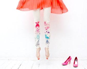 Neon bugs - print leggings