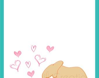 INSTANT DOWNLOAD - Printable Elephant Valentine Card - Digital Design