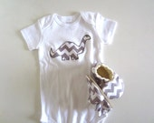Grey Chevron Baby Gift Set