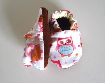 Baby Girl Owl Shoes