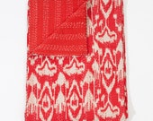 Sale! Ikat Bed Cover in Red Queen Size