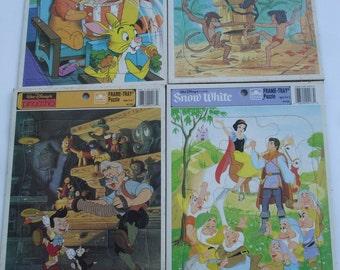 Vintage Walt Disney Snow White, Jungle Book, Pooh & Friends, Pinocchio Puzzles