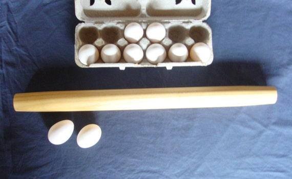 Wood rolling pin, long rolling pin, french tapered, french style, no handles, Black Locust wood, 22 inches long, rolling pins, wooden taper