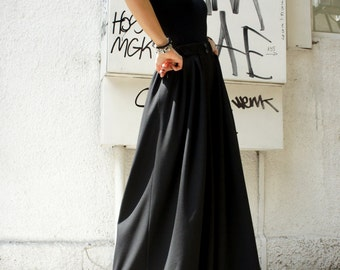 Loose  Black Pants / Wide Leg Pants Spring / Summer  Collection A05045