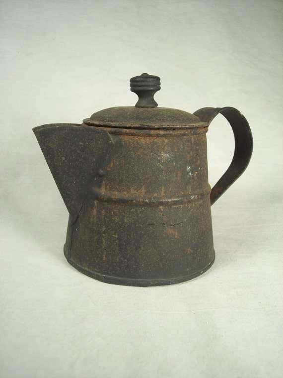 Antique Campfire Coffee Pot Kettle Cowboy By