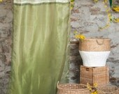 Beaded Brocade Lined Curtains in Green Tea 96'' x 46''