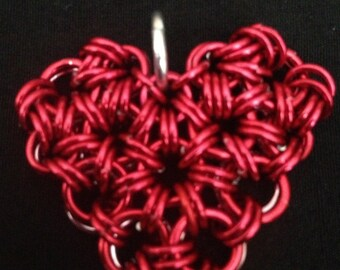 Chainmaille Heart Necklace
