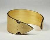 Longboard bracelet (natural maple wood & black).