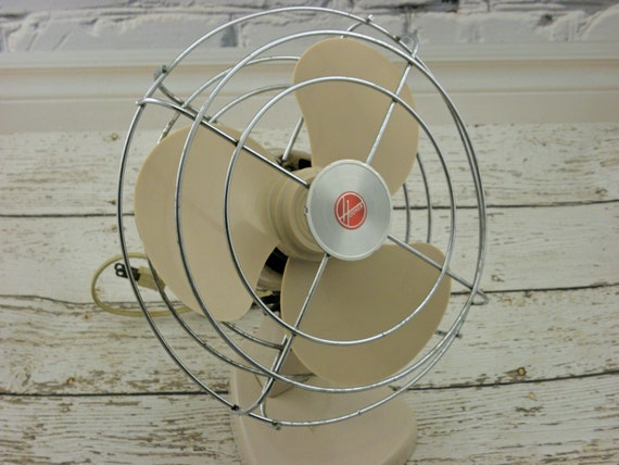 Vintage desk Fan Industrial Mini Hoover Electric Fan Works greatVintage Desk Fan