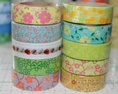 On Sale Washi Tape Set - Japanese Washi Tape - Masking Tape - Deco Tape - 9 Rolls - WTS2040