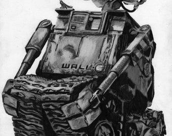 Wall-E Portrait, Limited Edition Print
