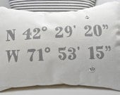 Pillow Decorative Pillow Cover Custom Printed with your GPS for any location great gift for geocachers