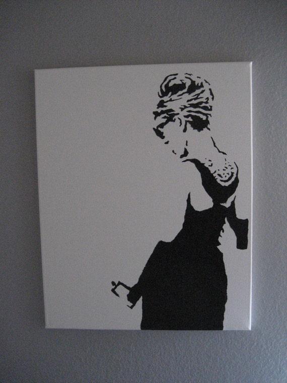 Items similar to audrey hepburn graffiti stencil pop art for Ikea audrey hepburn