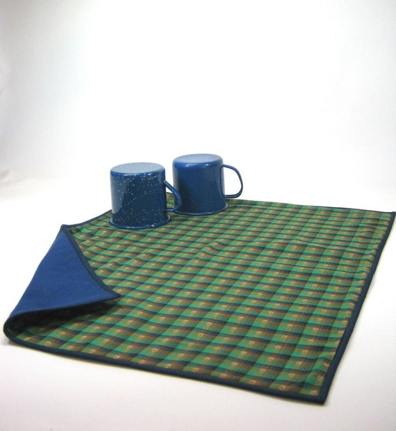 Dish Drying Mat Camping Kitchen Cloth Blue By HereAtSmallGoods