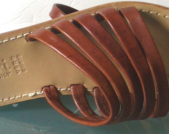 Capri Made in Italy Strappy Flat Leather Sandals