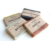 Soap Sampler - detox soaps - Vegan Soap - All natural Soap, activated charcoal soap, mothers day gift, fathers day gift