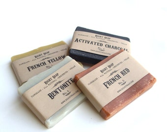 Soap Sampler - detox soaps, Vegan Soap, natural Soap, activated charcoal soap, stocking stuffer, christmas gift, stocking stuffer