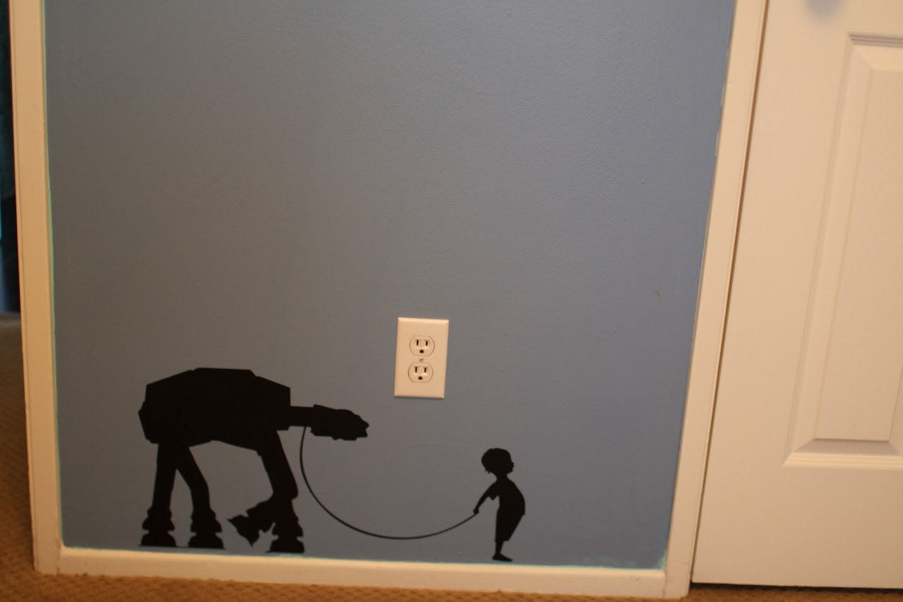A Boy And His At At Or Girl And Her At At Vinyl Wall Decal. SaveEnlarge · Star  Wars ...