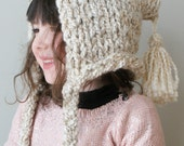 DIY Knitting PATTERN - Chunky Pixie Hat in Toddler, Child and Adult Sizes (hat004)