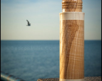 Lighthouse Pepper or Salt Mill of Olive Ash & American Holly