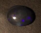 3.6 Carats Electric Blue on Black Lightning Ridge Opal