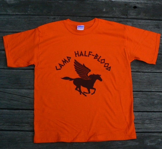 Items similar to children s camp half blood t shirt on etsy