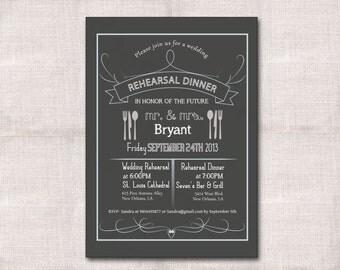Rehearsal Dinner Custom Printable Invitation 5x7