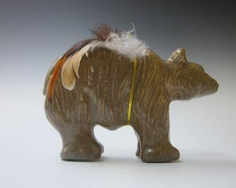 Bear, Ceramic Bear, Hand Made Bear, Animal, Bear Fetish