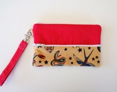 Sailor Jerry Tattoo Gadget Pouch or Pencil Pouch Wristlet