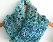 Sea Ice Cowl Crochet Pattern, Scarf, Men, Women, Teen, Child