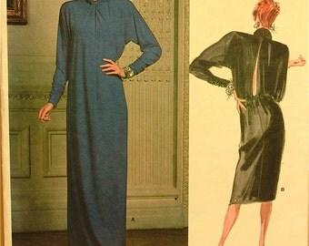 """Dress, Looped Drape by Givenchy - 1980's - Vogue Paris Original Pattern 1816  Uncut   Size 16  Bust 38"""""""