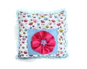 Tooth Fairy Pillow, Girls Butterfly Pillow, Pastel Blue Pillow, Girls Pocket Pillow, Can Be PERSONALIZED