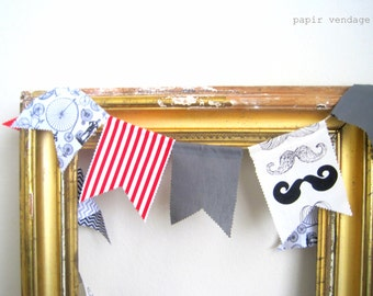 Father's Day Bunting Banner, 9ft  Mustache Bunting Banner, Boys Birthday Party Bunting,  Moustache Bunting, Boy's Photography Prop