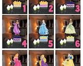 "DIY 12"" Small Princess Birthday Party Centerpieces FREE KIT centerpiece snow white cinderella Little Mermaid belle aurora Jasmine Party"
