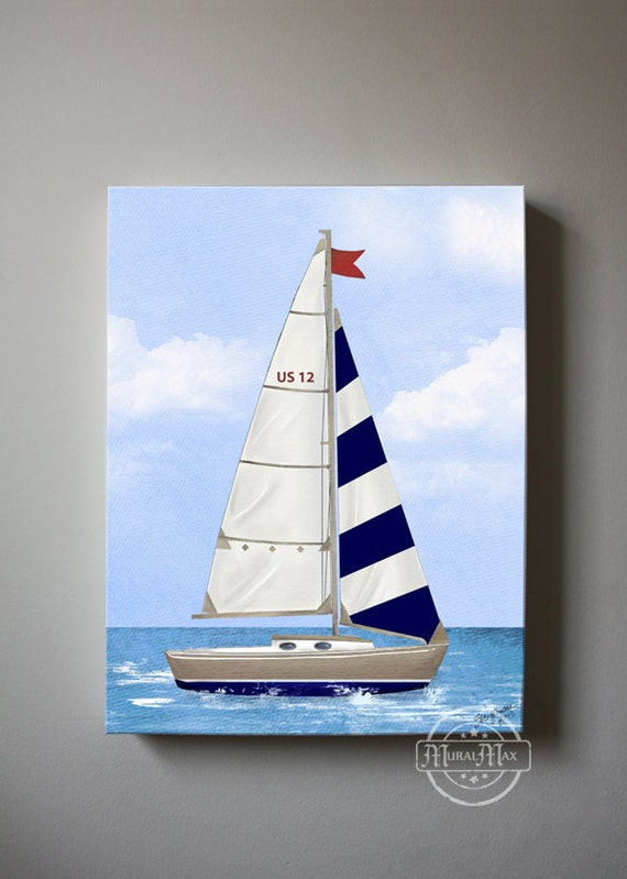 Nursery Art Nautical Sailboat Baby Nursery Room Decor
