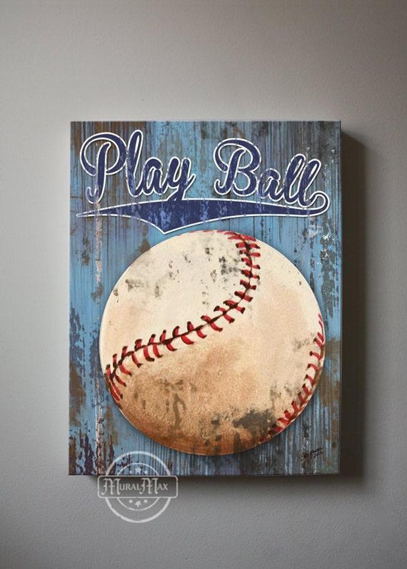 Baseball Art Sports Nursery Canvas Art Baseball Nursery