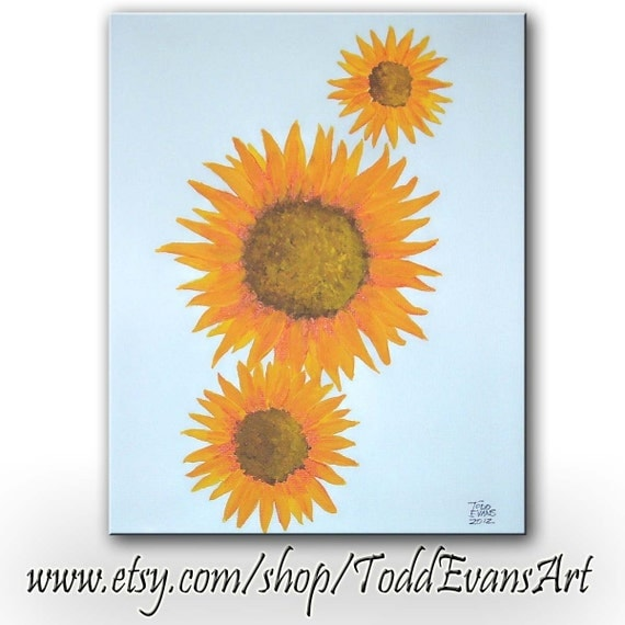 ON SALE TODAY, Sunflowers, Painting, Golden sunflower, flower, sunflower, flowers, original painting, orange, abstract