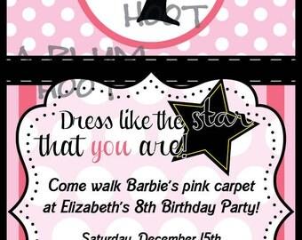 Barbie Birthday Invitation