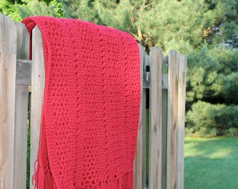 Really Red Lap Afghan