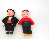 hardbead supplies- 2 pcs- plastic mid century dolls- cottage chic- for alternative jewelry- Shabby Chic- H00271