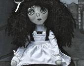 Handmade Cloth Doll - Cordelia a School Girl Ghost Doll