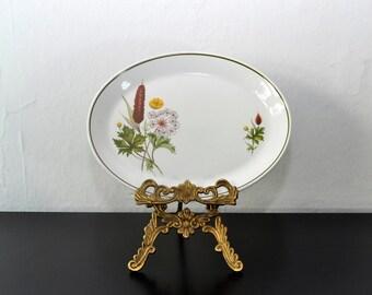 Vintage Ironstone Platter, Floral Plate, Serving Platter, Thanksgiving Decor, Fall Decor, Serving Plate, Flower Platter