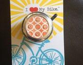 Beach Cruiser Bike Bell / Modern Circles / FREE SHIPPING